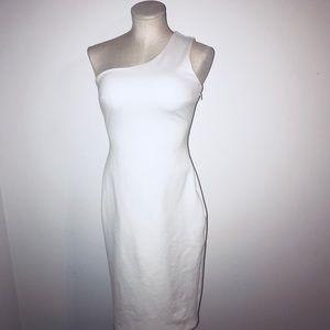 White LULU'S body con dress